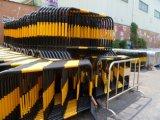 El control de multitudes de esgrima temporal por obra de construcción