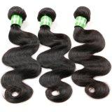 Do Weave indiano de trama do cabelo do cabelo de Remy cabelo 100% brasileiro da onda do corpo