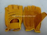 Из натуральной кожи крупного рогатого скота Glove-Half Glove-Sport Glove-Working Glove-Safety пальцев перчатки