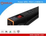 19 pulgadas 6 puertos Protección de sobrevoltaje inteligente Unidad de distribución de energía