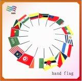 Bandierina d'ondeggiamento della mano di alta qualità, bandierina su ordinazione dello scrittorio (HYHF-AF025)