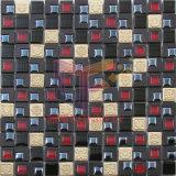Mosaico Mixed di vetro del plastica del Brown e della parete (CSR087)