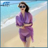 Конструкция шифоновой шали шарфов высокого качества женщин постепенно Silk длинняя