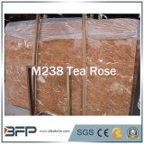 インテリア・デザインのための茶ローズの磨かれた自然で赤い大理石の平板