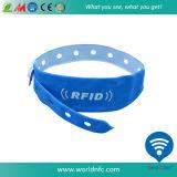 Wristband descartável do papel da faixa do Tag de RFID
