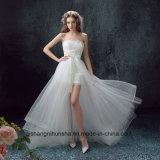 Короткое замыкание лицевая и оборотная долго Съемные задние Strapless элегантные свадебные платья