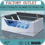 목욕탕 가구 이중 면 유리제 아크릴 안마 욕조 (5406)