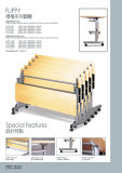 2017の熱い販売のオフィスのFoldigの机(Flippy)表