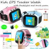 Los niños de la pantalla táctil nuevo rastreador de GPS Reloj con antorchas (D26).