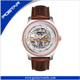 Produits chaud l'homme regarder Mechancial montre avec bracelet en cuir véritable