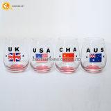 Glas het van uitstekende kwaliteit van de Wijn met Overdrukplaatje