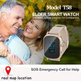 Traqueur de montre de 2017 personnes âgées GPS avec la transmission T58 de 2 voies