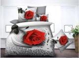 Microfibra impresso cama 3D define o estilo de Flores Lençol