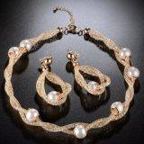 Reeks van de Juwelen van de Manier van de Parel van het Kostuum van het Gouden Plateren van Doubai van de manier de Gouden Afrikaanse