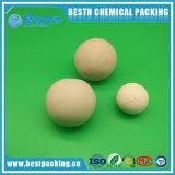 Bolas de cerámica inactivas como media del soporte del catalizador
