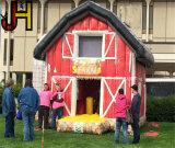 Het grote Opblaasbare Huis van de Sprong van de Schuur van het Landbouwbedrijf van de Schuur van de Schuur Grote Rode Opblaasbare