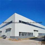 Estructura de acero del edificio de la luz del diseño de la fábrica de la casa prefabricada de acero del almacén