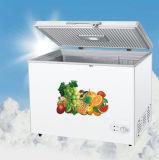 上のドアの冷凍庫の箱の冷凍庫