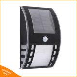 2LED van het roestvrij staal Licht van de Doorgang van de Muur van de Sensor van de pir- Motie het Zonne