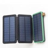 3 Dobras Carregador Solar Banco de energia de uma bateria externa Carregador portátil Banco de Energia Solar