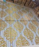 金のモザイク、背景の壁のタイル、パターンモザイク(HMP649)
