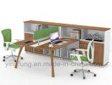 나무로 되는 가구 사무실 분할 모듈 책상 Yf-G0401