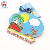 De Kleurrijke Medaille van uitstekende kwaliteit van de Vakantie van Kerstmis van het Email