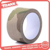 Cinta adhesiva militar impresa del paño del camuflaje de la fibra de la materia textil