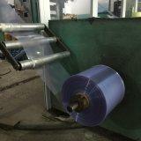 Film de rétrécissement blanc et clair clair rigide de la chaleur de PVC de bleu