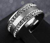 De hete Ring van de Diamant van de Textuur van de Muur van het Roestvrij staal van de Verkoop Grote