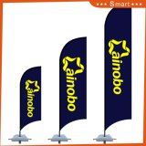 Facendo pubblicità bandierina di spiaggia stampata parteggiata su ordinazione poco costosa della piuma di uso alla doppia da vendere