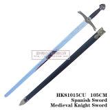As espadas européias das espadas medievais da espada do lobo 105cm HK81015cu