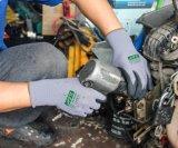 13G 기름 증거 니트릴에 의하여 입히는 Anti-Slip 안전 일 장갑