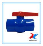 Válvula de esfera padrão do PVC do RUÍDO com cor azul de 110mm