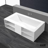 Redondo blanco clásico de superficie sólida personalizada bañera de piedra