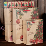 2018 modificó la bolsa de papel para requisitos particulares reciclada Kraft de Brown para el regalo de empaquetado de la Navidad con la cuerda del bucle