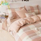 ピンクの綿の小切手の贅沢なホーム綿のシーツ