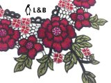 Bordados de tecido Colar de renda de moda de flores para Senhoras