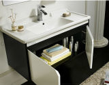 Gabinete de banheiro de suspensão branco da laca de madeira moderna da mobília (ACS1-L46)