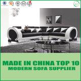 Sofa faisant le coin en bois de salle de séjour de cuir moderne de meubles