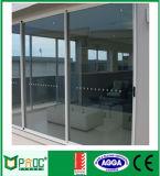 раздвижные двери 1.4mm двойные Tempered застекляя алюминиевые