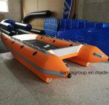 Liya 4.3meter 6 personne catamaran gonflable vente de bateaux à grande vitesse