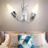 Luz popular da cabeceira da cor do cromo da lâmpada de parede do ferro feito para a HOME