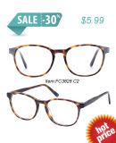 Senhora Modelo no frame do Eyeglass do estilo do vintage