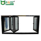Fenêtre Bi-Folding Rochetti Profil en aluminium avec le verre trempé