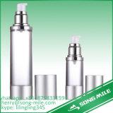 化粧品のための白く空気のないプラスチックPP丸ビン