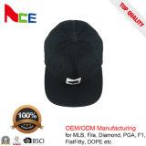 カスタマイズされたOEM 3Dのゴムによって印刷されるロゴの黒のアクリルの急な回復の帽子