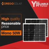Cinese la maggior parte del 12V efficiente un comitato solare da 50 watt mini con il prezzo ragionevole per uso domestico