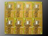 Niedriger Preis mehrschichtige gedruckte Schaltkarte mit gelber Lötmittel-Schablone