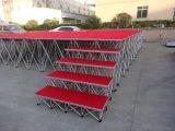 段階階段赤のプラットホームが付いている卸売価格の携帯用スマートな段階
